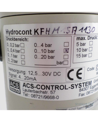 ACS contsys Füllstandsmessung Hydrocont KFHM15A1130 NOV
