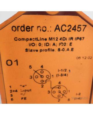 ifm AS-Interface CompactLine M12 4DI IR IP67 AC2457 GEB