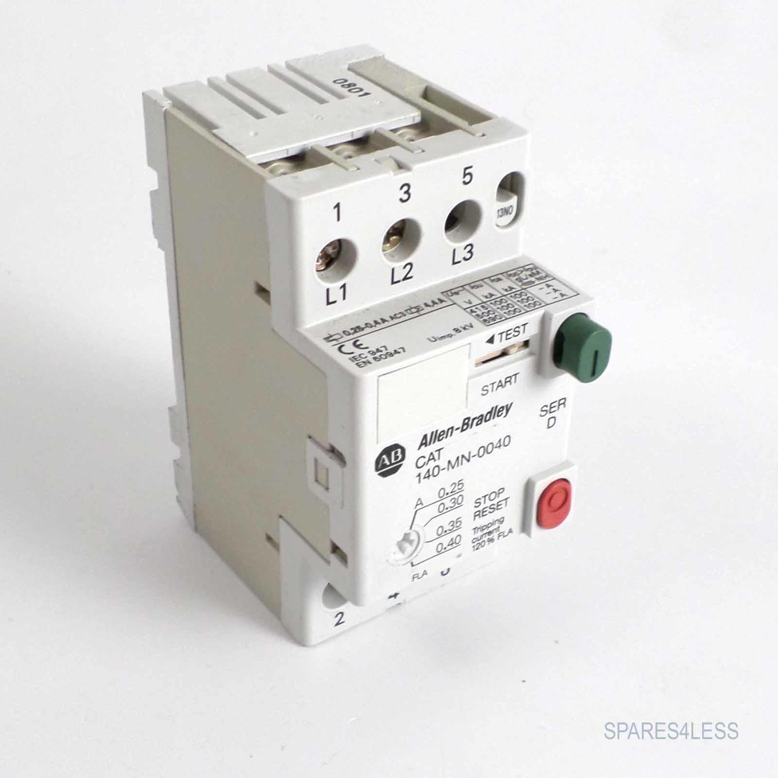 Allen Bradley Manual Motor Starter 140 Mn 0040 Ser D Geb