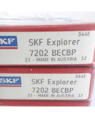 1 Stück SKF Schrägkugellager 7202BECBP OVP