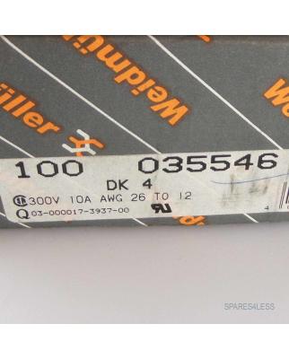 WEIDMÜLLER Doppelstockklemme DK4 035546 (100 Stk.) OVP