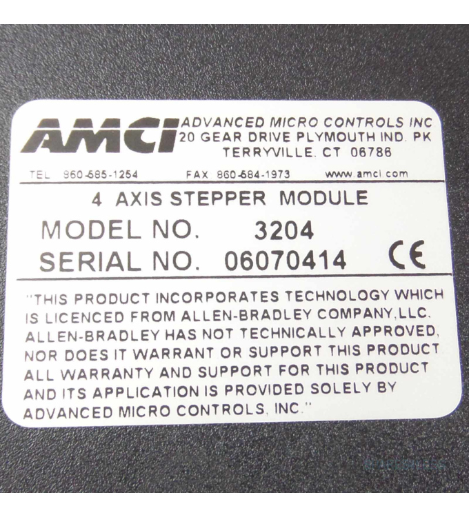AMCI 4 Axis Stepper Module 3204 GEB