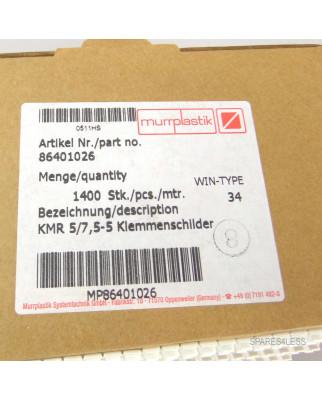 Murrplastik Klemmenschild KMR 5/7,5-5 86401026 (1400 Stk.) OVP