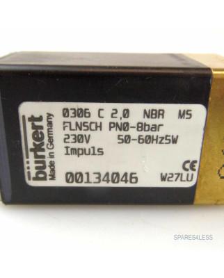 bürkert Impulsventil 0306 C2,0 NBR MS 00134046 NOV
