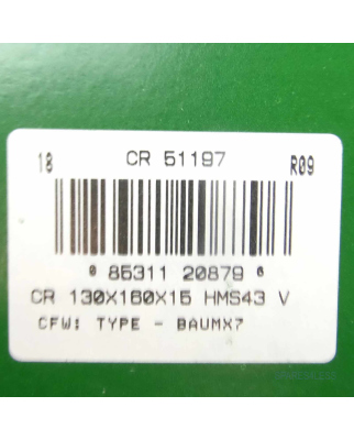 CR Oil Seal HMS43V 130x160x15 51197 OVP