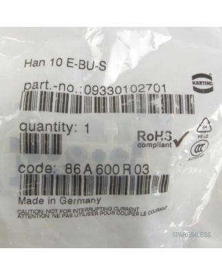 Harting Buchseneinsatz Han 10E-BU-S 09330102701 OVP