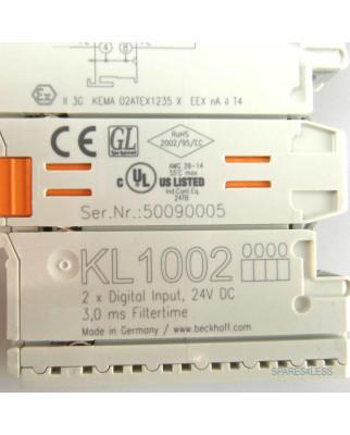 Beckhoff 2-Kanal-Digital-Eingangsklemme KL1002 OVP