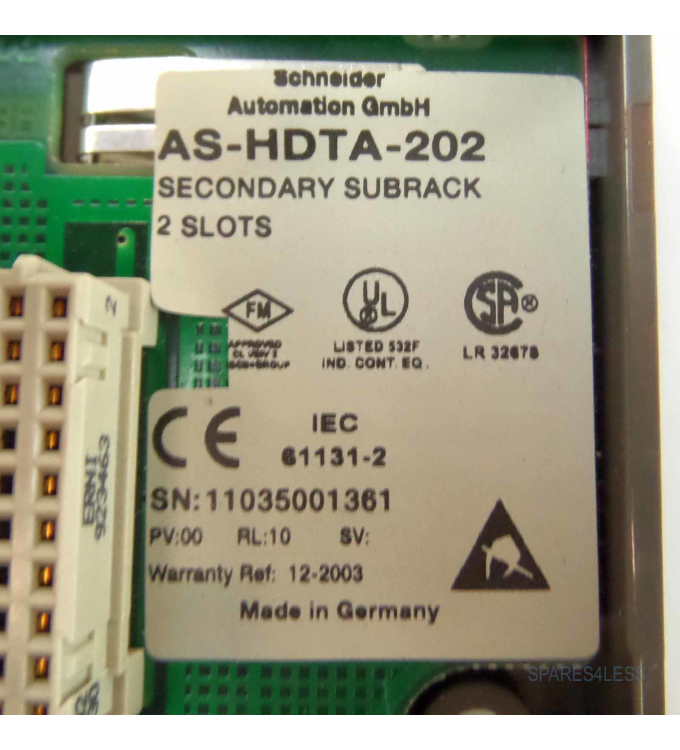 Schneider Automation Secondary Subrack AS-HDTA-202 GEB