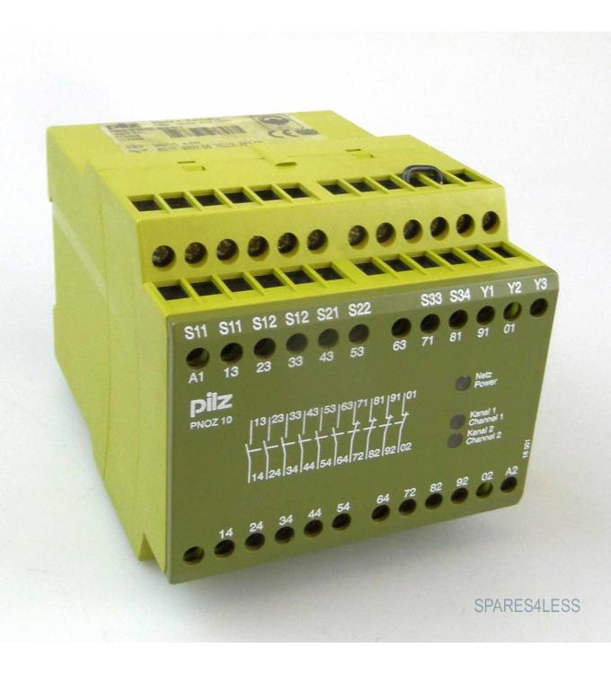 Pilz Not-Aus-Schaltgerät PNOZ 10 24VDC 6n/o 4n/c 774009 GEB