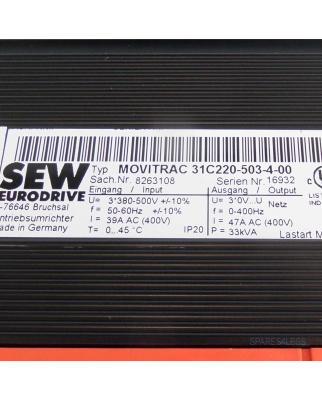 SEW EURODRIVE Frequenzumrichter Movitrac 31C220-503-4-00 8263108 OVP