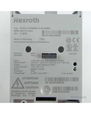 Rexroth Frequenzumrichter FCS01.1E-W0003-A-02-NNBV GEB
