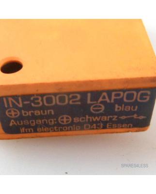 ifm efector induktiver Sensor IN-3002 LAPOG GEB