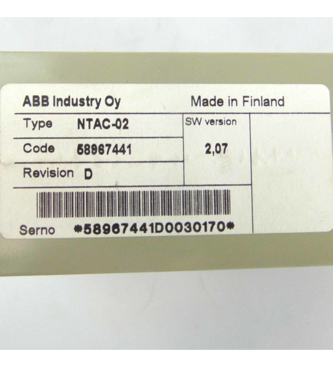 ABB Impulscoder Interface NTAC-02 58967441 GEB