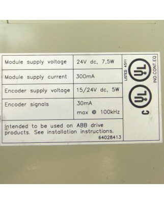 ABB Impulscoder Interface NTAC-02 58967441 GEB