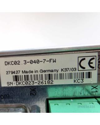 INDRAMAT AC Servo Controller Ecodrive DKC02.3-040-7-FW...