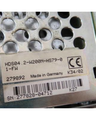 INDRAMAT AC Servo Controller HDS04.2-W200N-HS79-01-FW...