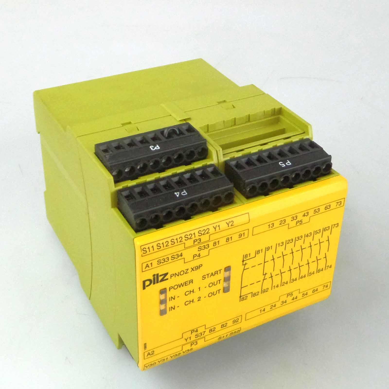 Pilz 787303 PNOZ X2P C Sicherheitsschaltgerät Not-Aus-Relais 24VACD 2n//o NEU