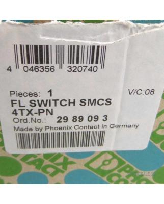 Phoenix Contact Ethernet Switch FL SWITCH SMCS 4TX-PN 2989093 OVP
