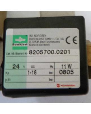 Buschjost Norgren Magnetventil 8205700.0201 NOV