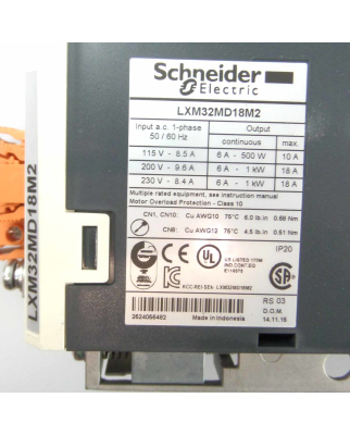 Schneider Electric AC-Servoverstärker LXM32MD18M2...
