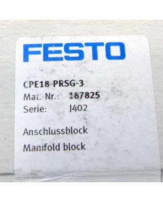 Festo Anschlussblock CPE18-PRSG-3 187825 SIE
