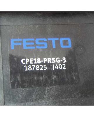 Festo Anschlussblock CPE18-PRSG-3 187825 OVP