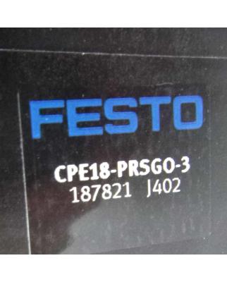 Festo Anschlussblock CPE18-PRSGO-3 187821 OVP