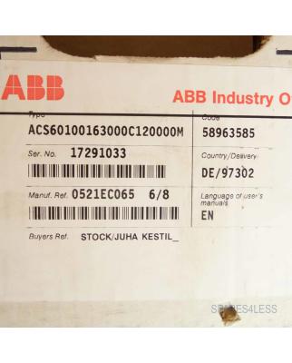 ABB FU ACS600 ACS60100163000C120000M OVP