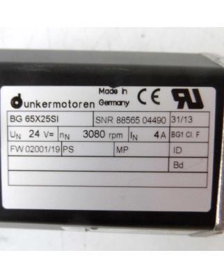 Dunkermotoren EC-Motor BG 65X25SI + SG80 i=38:1 NOV