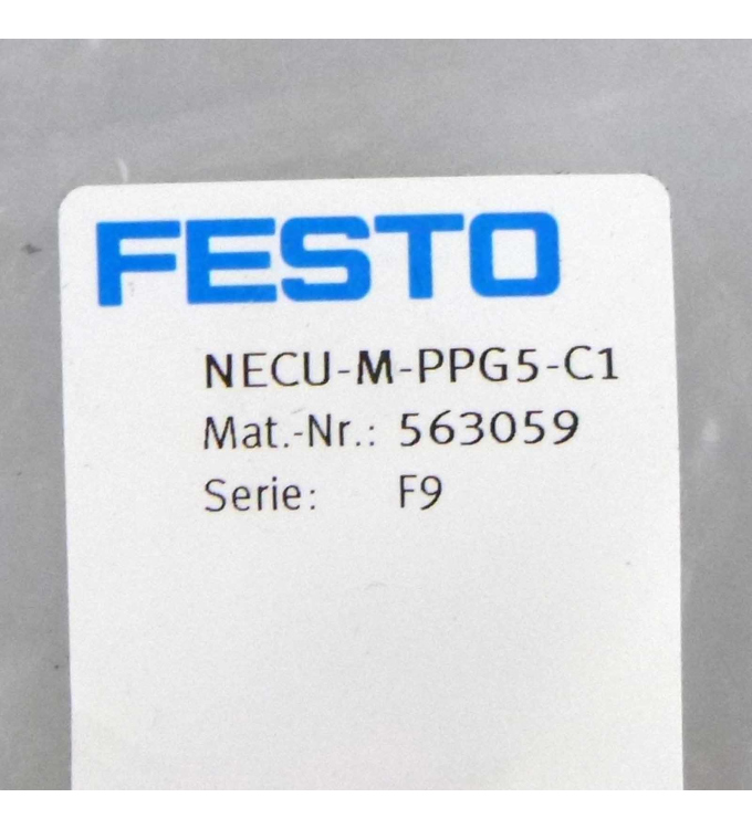 Festo Netzanschlussdose NECU-M-PPG5-C1 563059 OVP