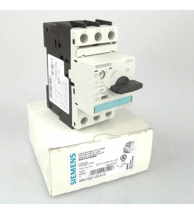 OVP Siemens 3RV1021-0GA10 Leistungsschalter
