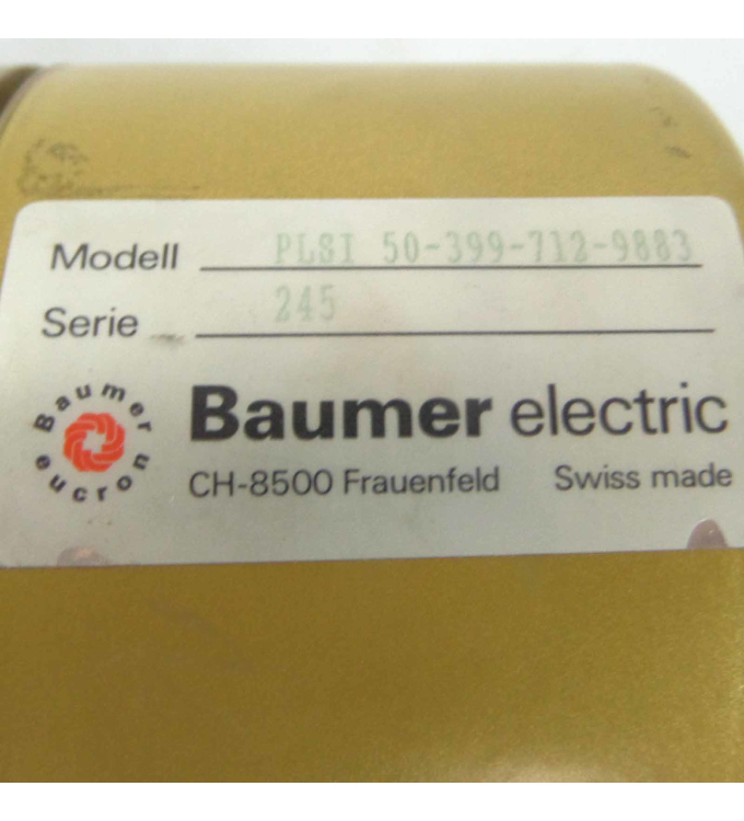 Baumer electric Drehgeber PLSI 50-399-712-9883 NOV