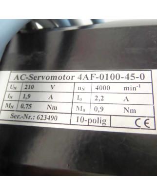 AC-Servomotor 4AF-0100-45-0 210V 4000min-1 GEB