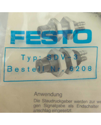 Festo Anschlagsignalgeber SDV-3 6208 OVP