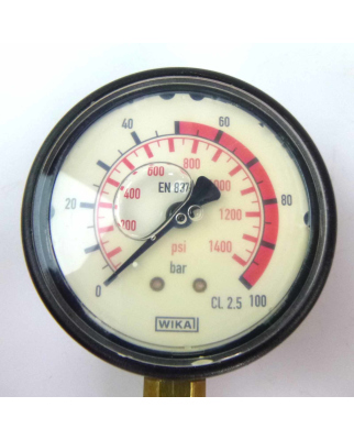 WIKA Manometer EN837-1 CL.2.5 0-100bar GEB