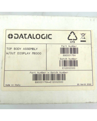 Datalogic Top Body Assembly w/out Display M8300 890001764...