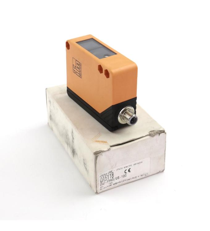 ifm efector 200 Reflexionslichttaster OA5118 OAP-FPKG/US-100 OVP