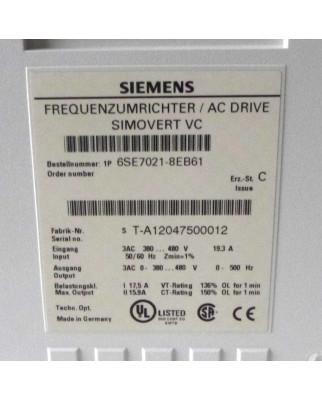 Siemens SIMOVERT Masterdrives Umrichter 6SE7021-8EB61 OVP