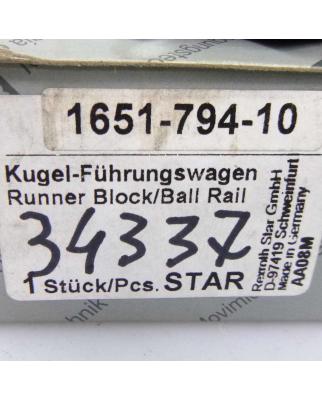STAR Kugel Führungswagen 1651-794-10 OVP