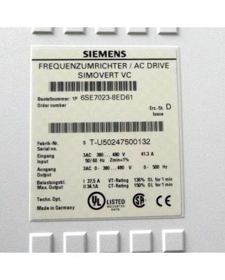 Siemens SIMOVERT Masterdrives Umrichter 6SE7023-8ED61 OVP
