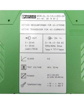 Phoenix Contact Messumformer MCR-SL-S-1-5-I-DCI-24 2814812 OVP