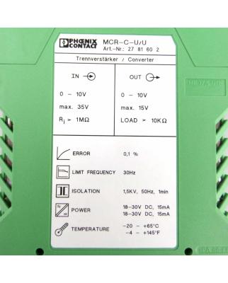 Phoenix Contact Trennverstärker MCR-C-U/U 2781602 OVP
