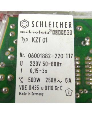 SCHLEICHER Zeitrelais KZT01 06001882-220  t=0,15-3s OVP