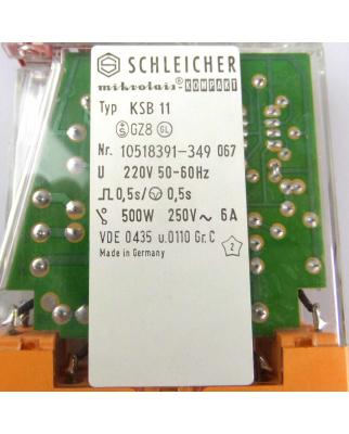 SCHLEICHER Relais KSB11 10518391-349 0,5s OVP