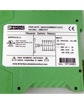 Phoenix Contact Koppelrelais PSR-SCP- 24UC/URM/5X1/2X2 2963747 OVP