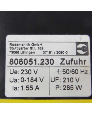 Rossmanith DC-Stromrichter Rothy 806X5 806051.230 230V GEB
