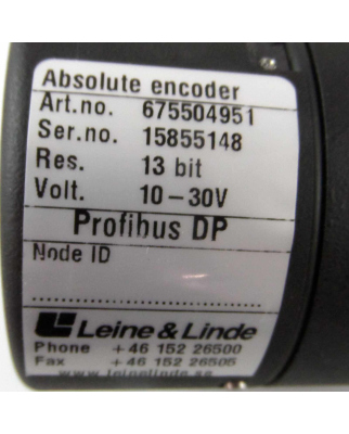 Leine&Linde Drehgeber 675504951 10-30V OVP