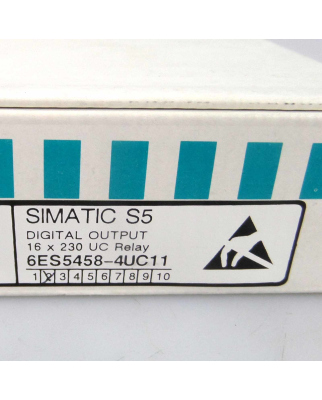 Simatic S5 DO458 6ES5 458-4UC11 E-Stand:02 OVP