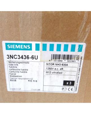Siemens Sitor Sicherungseinsatz 3NC3436-6U (3Stk.) OVP