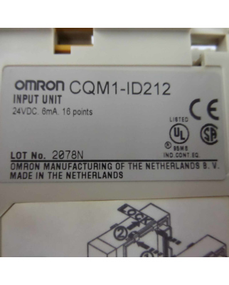 Omron Input Unit CQM1-ID212 #K2 GEB